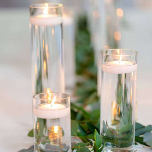 Eric and Jarlene Wedding- Candle Centerpiece