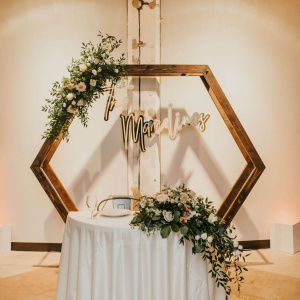 Geometric Wedding Arch - Keisha and Rae