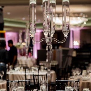 Candelabra Centerpiece - Hannah and Eric
