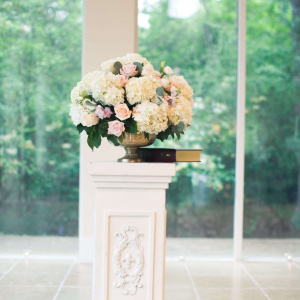 Ceremony Pedestal Arrangement - Alexandria and Jordan