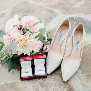 Bridal Bouquet, Rings and Choo's - Juliette and Abdon