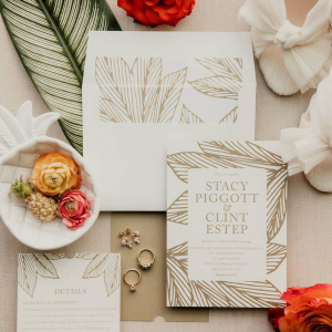 Clint and Stacy Wedding- Flat Lay
