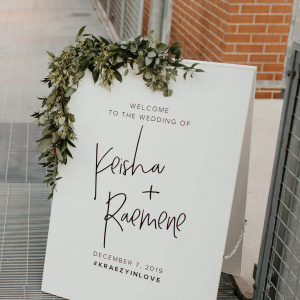 Greenery Welcome Sign - Keisha and Rae