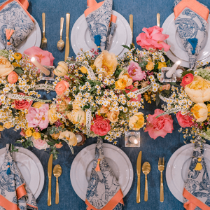 Table Setting - Brides of Houston Feverfew Styled Shoot