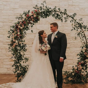 Floral Hoop - Madeleine and Connor