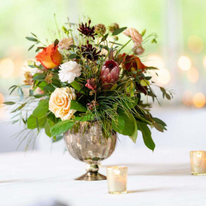 Eric and Jarlene Wedding- Short Centerpiece
