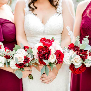 Bridal and Bridesmaid Bouquets - Chelsey and Liz
