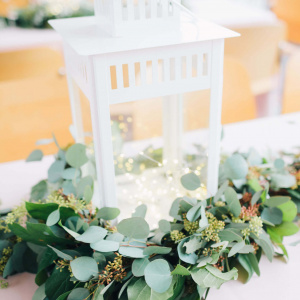 Mia and Patrick Wedding - Lantern Centerpiece