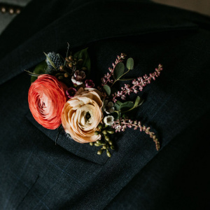 Pocket Square Boutonniere - The Big Fake Wedding 2019