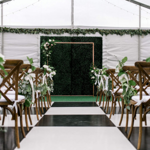 Tented Ceremony Space - Tiffany and Andy