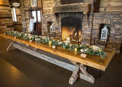 Reception Table Garland Wedding The Tallest Tulip Houston