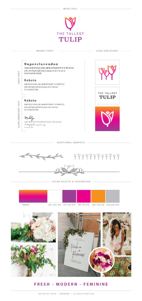 The Tallest Tulip Brand Board