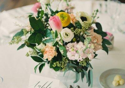Wedding reception centerpiece The Tallest Tulip Houston